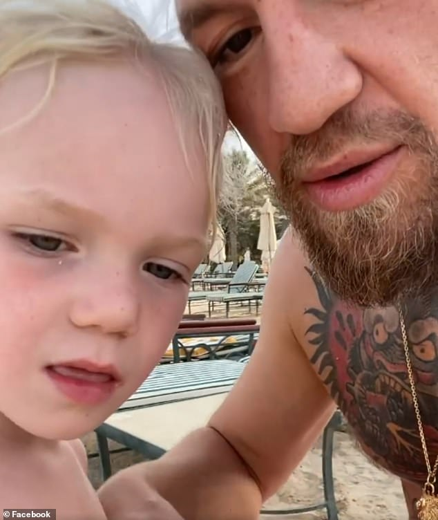 Controversy:Conor McGregor has been blasted by horrified parents after he urged his three-year-old boy Conor Jr to punch another child in the mouth
