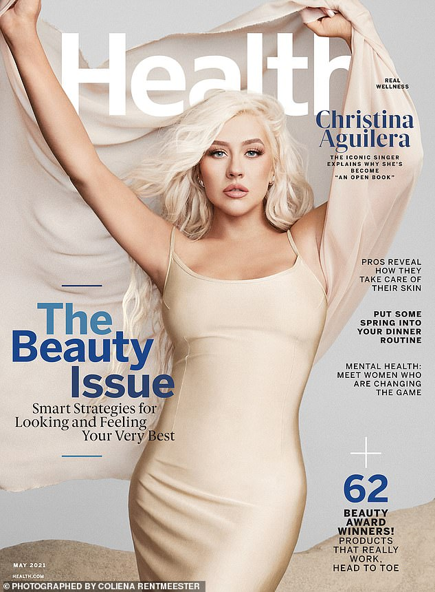 Siren: Aguilera said: 'I was loving my new curves. I appreciated having a booty. I've always said that women are way more interesting to look at than men!' The cover goes on sale April 17