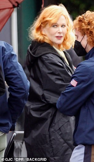 Nicole Kidman was first seen in costume as Lucille Ball on Tuesday in Hollywood