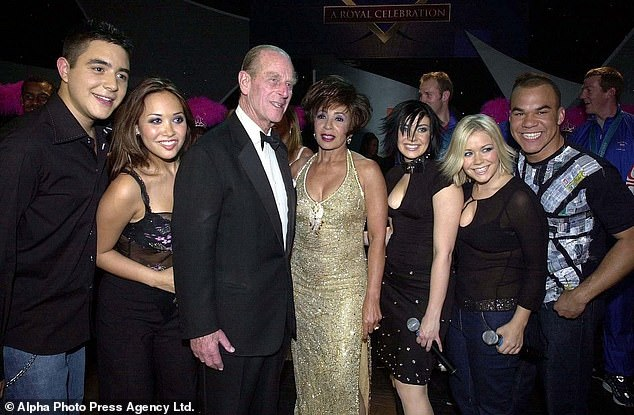 20 years ago: Kym recounted Prince Philip's 80th birthday party in 2001, when his former pop group Hear'Say performed [pictured]