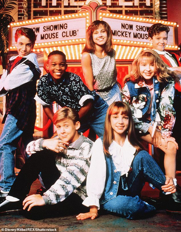 Child stardom: The New York native joined The Mickey Mouse Club in 1994 at age 14 and described it as 'a grind' (pictured withJustin Timberlake, Britney Spears and Ryan Gosling)