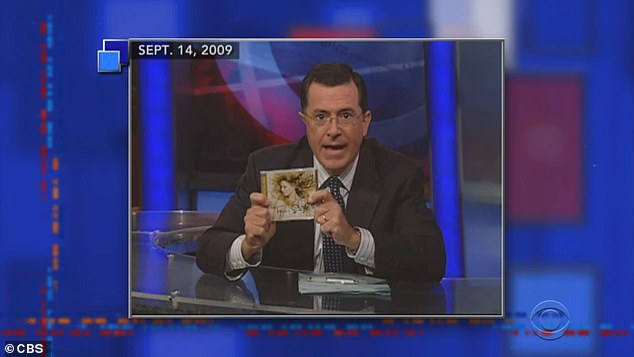 Return clip: Stephen, 56, noted that Taylor released the re-recorded version of her 2008 album Fearless last week and recalled that she sent him a signed copy of Fearless in 2009.