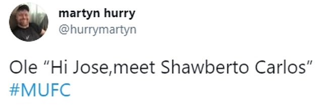 Some fans on social media have referred to Shaw with the  'Shawberto Carlos' nickname