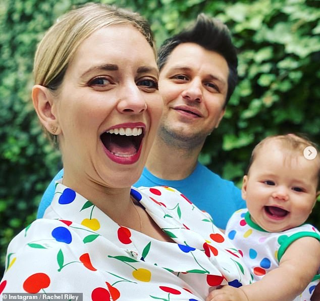 Doting: 'I think we'd like another one... Some of my friends had twins by accident and a few of them have got three little ones and everyone seemed to have them straight after' she said