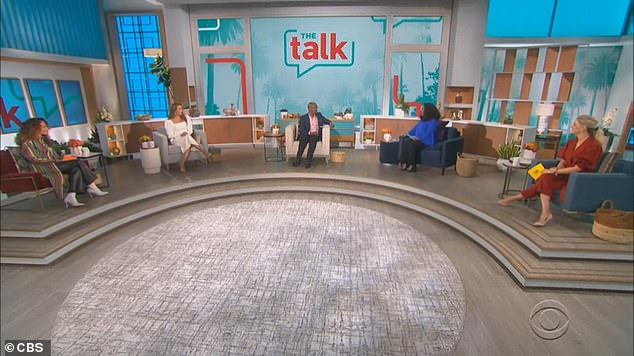 Return: When The Talk returned on Monday, Sheryl and her co-hosts Carrie Ann Inaba, Elaine Welteroth, and Amanda Kloots pledged to `` honestly discuss '' what happened on March 10.