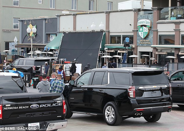 Local: The production was shooting at Hennessy's Tavern in Hermosa Beach, California