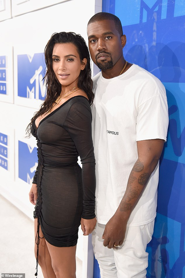 Split: Kardashian filed for divorce from Kanye West in February;  Kim and Kanye pictured in 2016