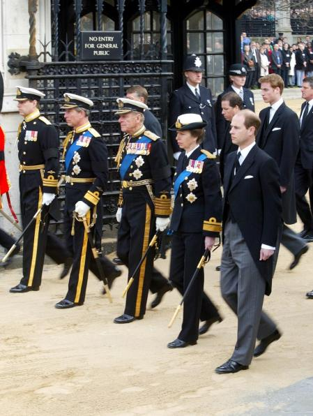 Because of Harry and Andrew's Blemishes the Queen Decides None of the Royals Will Wear Uniform at Husband Philip's Funeral in Break with Tradition