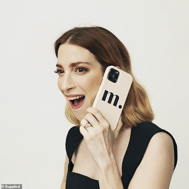 Fun: In a series of images, Molly poses with a personalised phone case and other accessorises