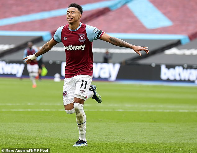 Jesse Lingard has been in sensational form at West Ham, scoring eight times in nine games