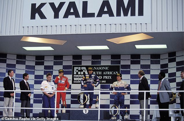 Senna settled for second while Britain's Mark Blundell took third as Prost coasted to victory