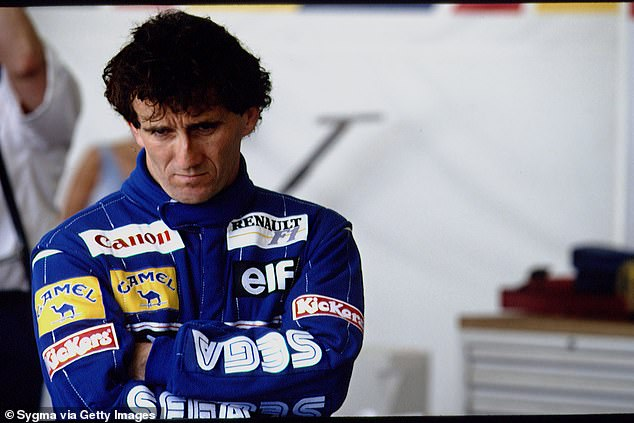 Senna labelled Prost (pictured) a 'coward' for not wanting to engage in a fair fight for the title