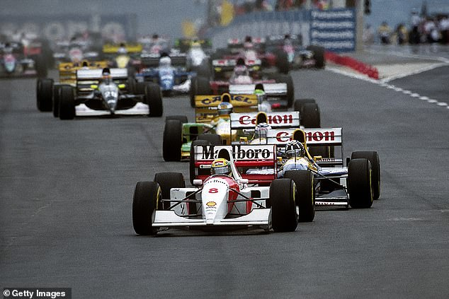 Prost fell to fourth after the opening lap and was forced to wrestle back the lead from his rivals