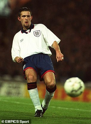 Steve Howey earned all of his four England caps before the Euros