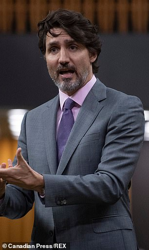 2021:Prime Minister Justin Trudeau responds to a question during Question Period in the House of Commons Wednesday April 14, 2021 in Ottawa