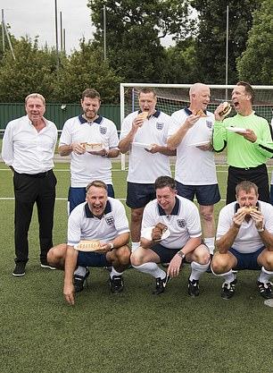 Howey (back row, centre) on Harry's Heroes