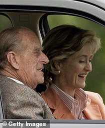 Prince Philip with Countess Mountbatten of Burma in 2009