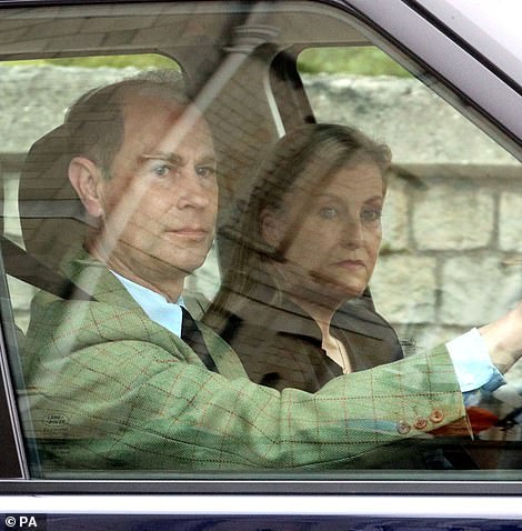 The Earl and Countess of Wessex arrive at Windsor Castle to join the Queen this week