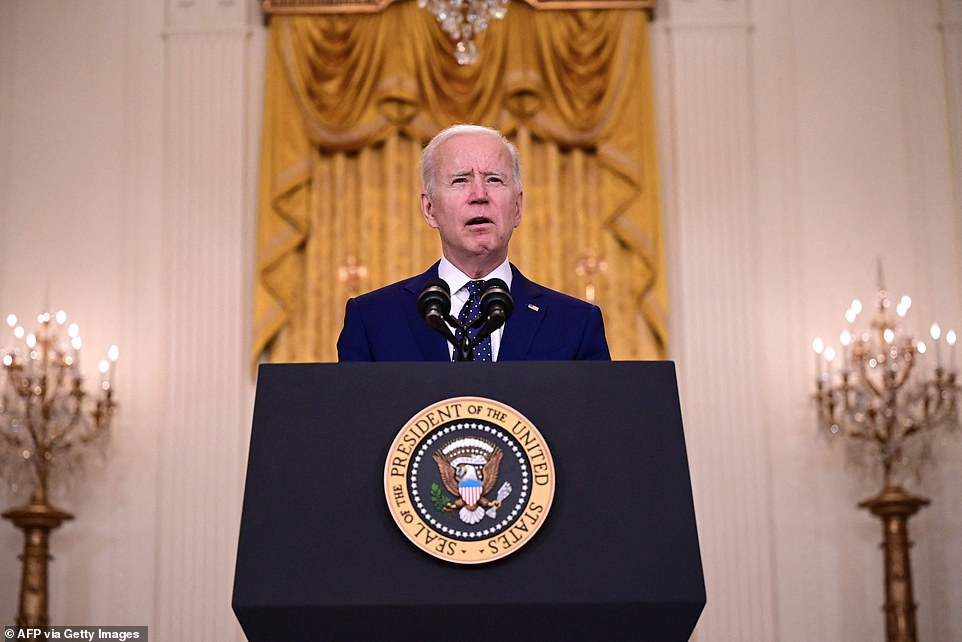President Biden warned Vladimir Putin it was time to de-escalate in the Ukraine and said US sanctions could have been much worse