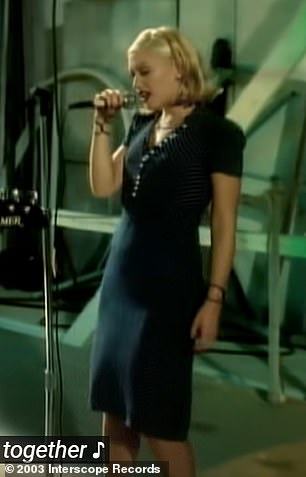 No Doubt: 'Here I am,' she said walking onto a set before breaking into a short snippet of the classic breakup anthem from her band No Doubt