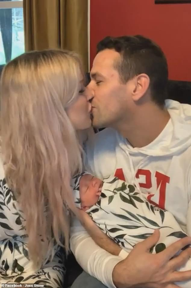 Mignon: The singer confirmed she gave birth in January by Caesarean section following a 'tiring' labor experience as she and her partner appeared on Facebook Live