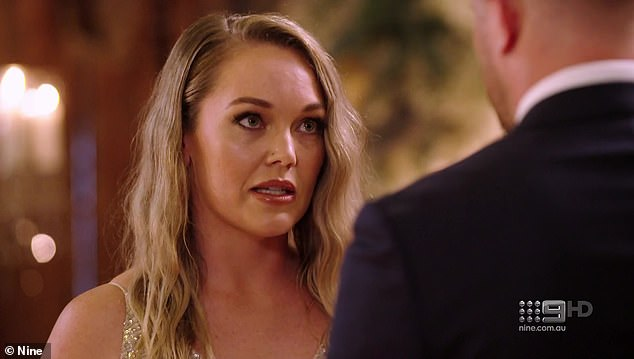 Gaffe: By tweeting about MAFS, Wilkinson was effectively telling her 260,000 followers she wasn't interested in her own network's programming. Pictured: MAFS bride Melissa Rawson