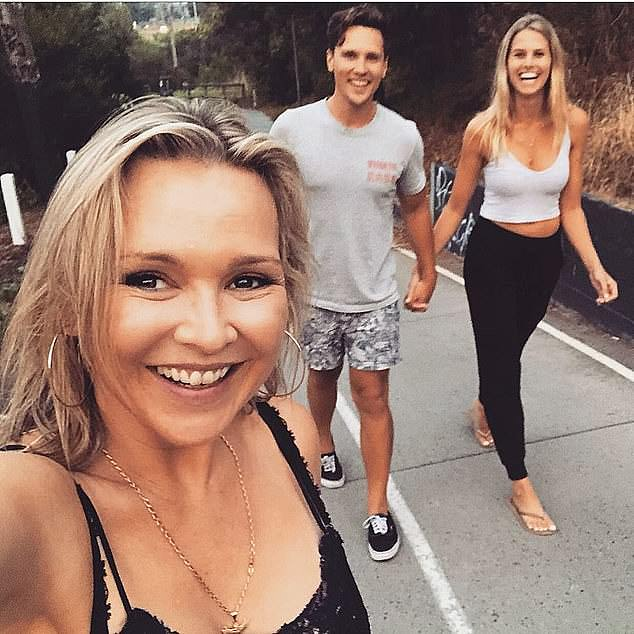 Acting royalty: The 29-year-old actor, who is the son of Neighbours star Carla Bonner (left), will be joining the cast of Channel Seven's Home and Away, playing trauma surgeon Dr Logan Bennett