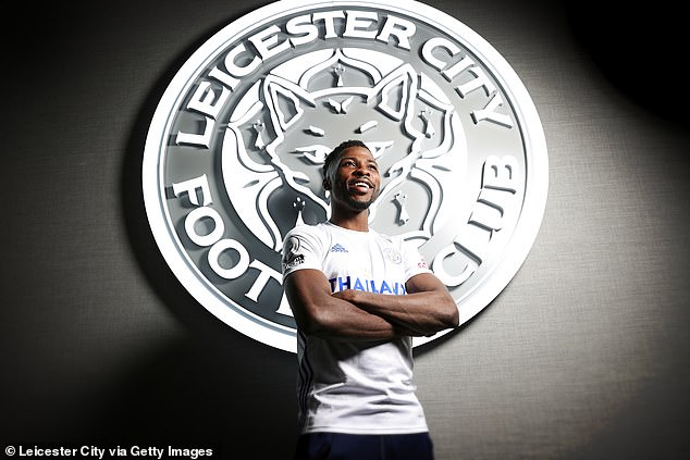Iheanacho has had plenty to smile about this season (pictured after signing his new deal)