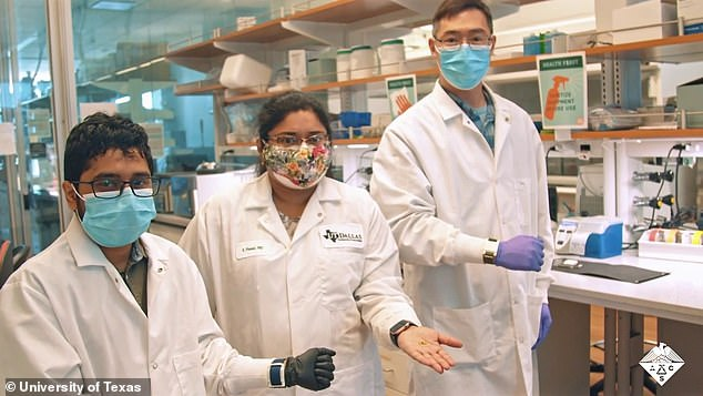 Early detection is important because once a cytokine storm has been unleashed, the excessive inflammation can damage organs, causing severe illness and death, says study authorShalini Prasad (pictured centre)