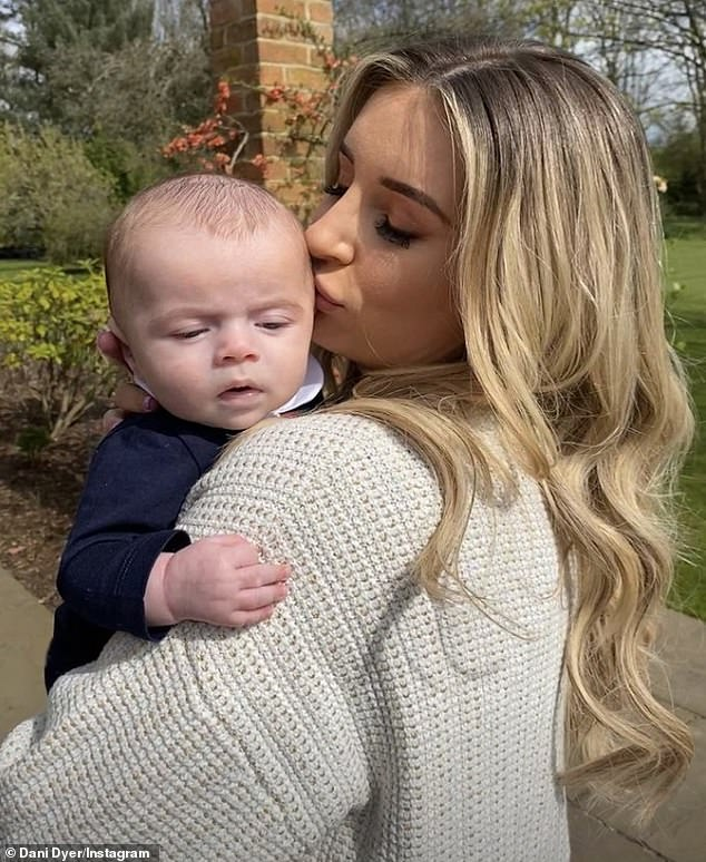 New mom: Jack's ex Dani Dyer, who he won Love Island with in 2018, gave birth to her first baby in January, a son named Santiago, whom she shares with boyfriend Sammy Kimmence