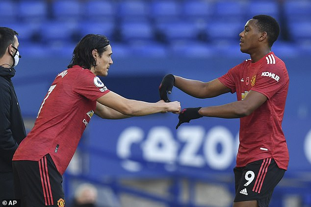 Edinson Cavani (left) and Anthony Martial's (right) futures at Old Trafford are uncertain