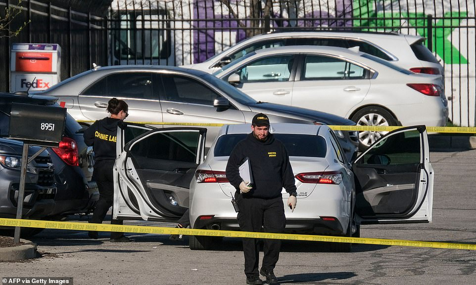The rampage started at the FedEx operations center in Indianapolis just after 11pm on Thursday when the gunman immediately opened fire with a rifle after getting out of his car in the parking lot