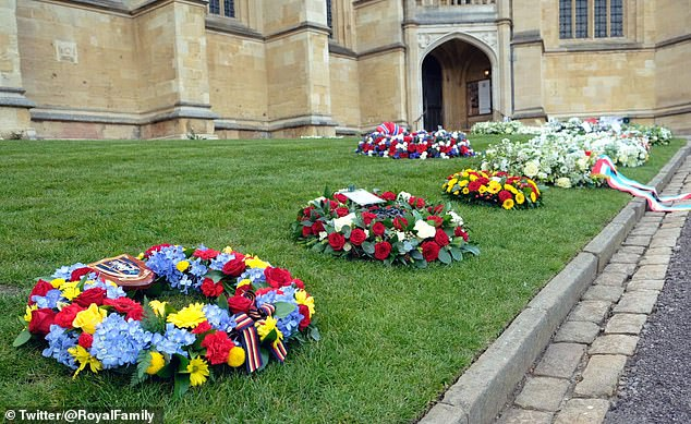 Flowers and condolences from around the Windsor Estate have been moved inside the castle grounds