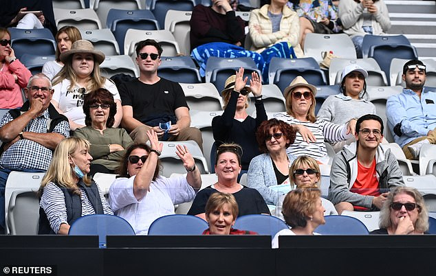 Crowds enjoyed the Australian Open tennis tournament in Melbourne in February without wearing face coverings