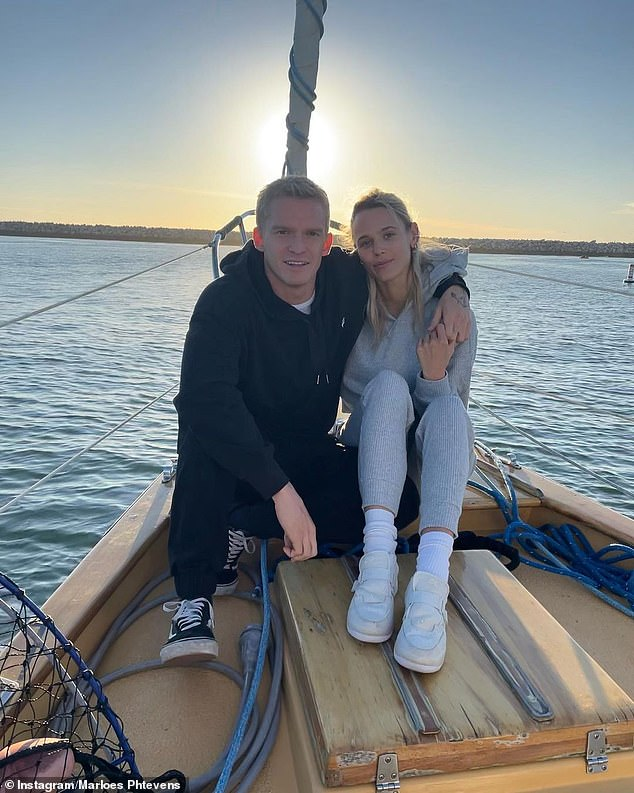 What was he doing before this?Prior to flying into Gold Coast, Cody and his American girlfriend, Marloes Stevens (pictured), who have been dating since December 2020, completed a mandatory 14-day quarantine in Howard Springs, Darwin