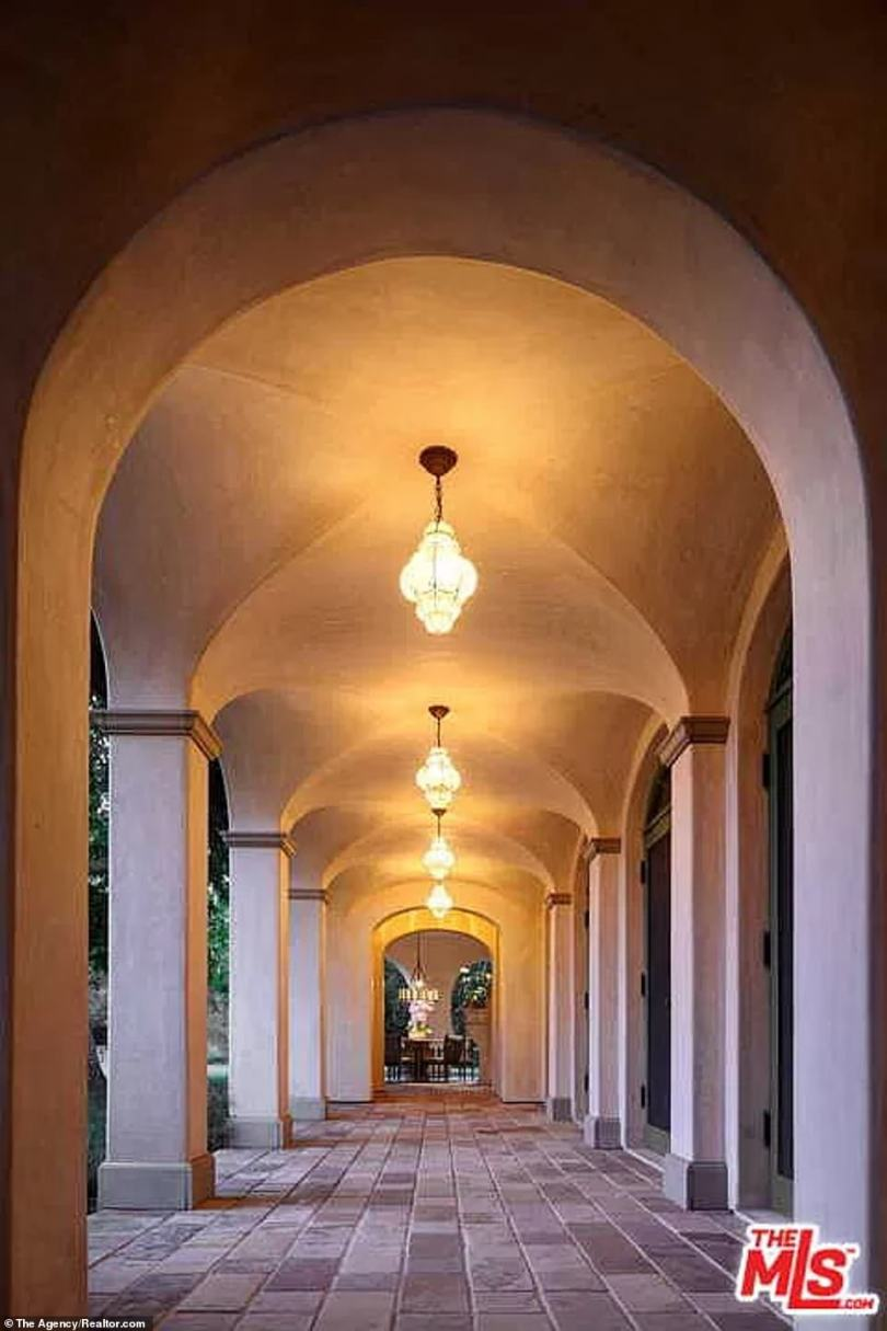 Evocative:In a true Mediterranean touch the movie star can also enjoy a walk in a shadowy portico with a high vaulted canopy reminiscent of Medieval Italy