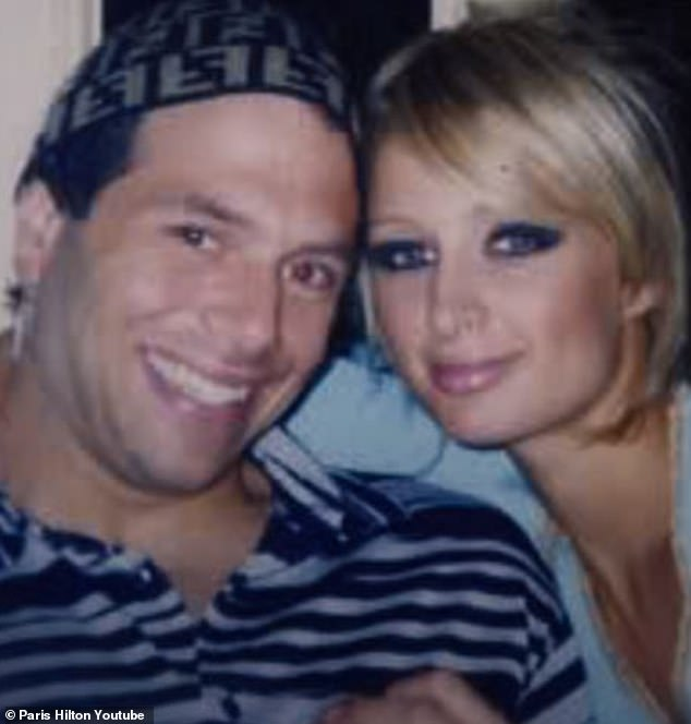 Throwback:She and her then-boyfriend Rick Salomon, who is 13 years her senior, starred in the tape which was leaked in 2003; they are pictured during their relationship