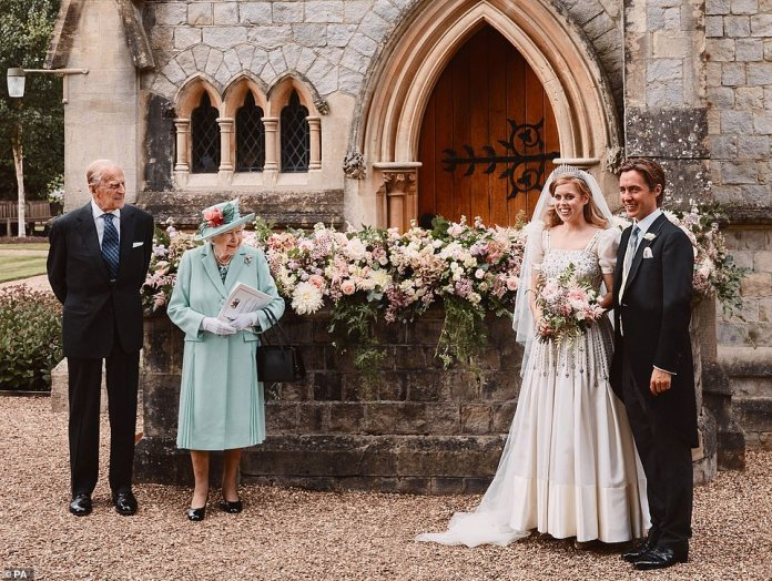 On a rare outing for Philip, the Duke of Edinburgh showed his dedication to his granddaughter by attending his intimate wedding to Edoardo at the Chapel of All Saints at the Royal Lodge, Windsor, in July of the last year.