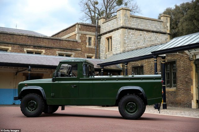 The military green repaint was one of many modifications Philip made to the vehicle, that was first built a the manufacturer's Solihull factory