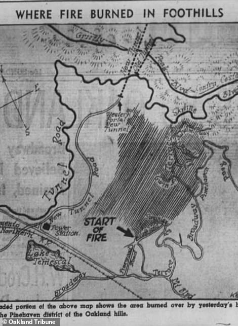 In 1937, another fire scorched 9 square miles of Oakland, including the parcel where the log cabin sits