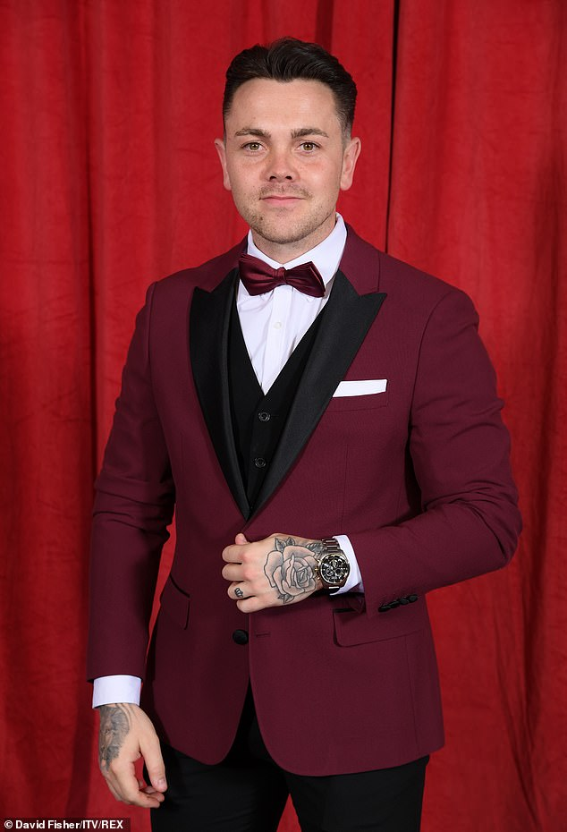 New venture: Ray Quinn has revealed he has been laying down carpets while working for his family's business during the Covid-19 pandemic (pictured in 2019)