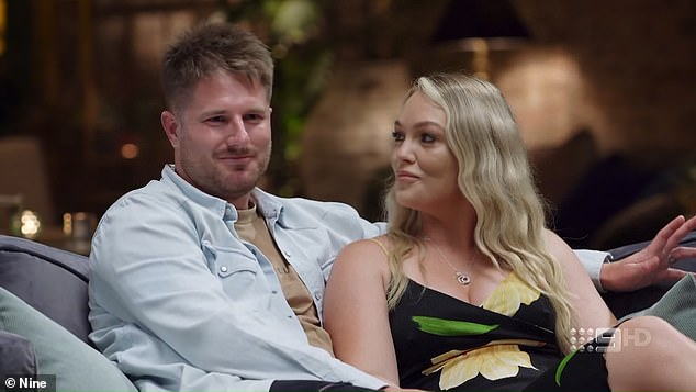 Controversy: During Sunday's Married At First Sight reunion, Melissa Rawson was presented with fresh evidence that Bryce Ruthven had hidden a secret girlfriend from her