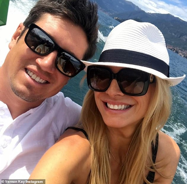 Throwback:Vernon put on a loved-up display with Tess on Instagram on Thursday when he shared a series of throwback holiday snaps