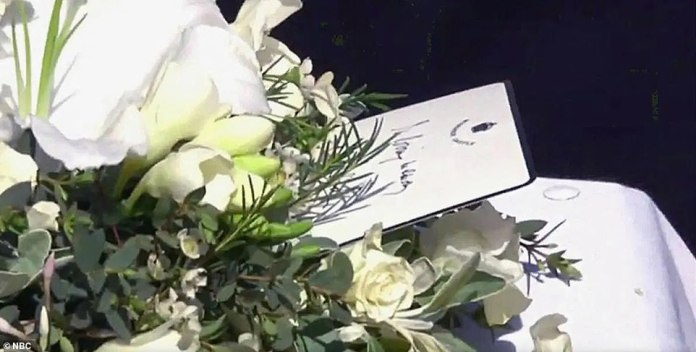 The Queen left a personal hand-written message for Prince Philip during his funeral service today.  but the content of the note is not known