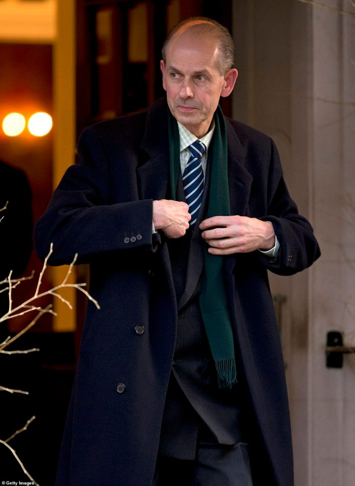 Paul Whybrew (Queen Elizabeth II page) leaves the Goring Hotel after attending a Christmas lunch hosted by Queen Elizabeth II for her close members of staff