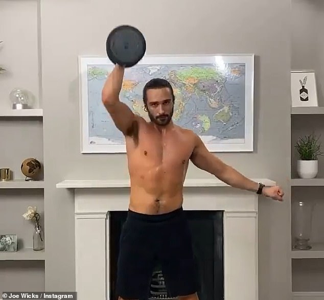 Help: Joe Wicks has been credited with helping to save a woman's life after his fitness advice helped her to overcome anorexia