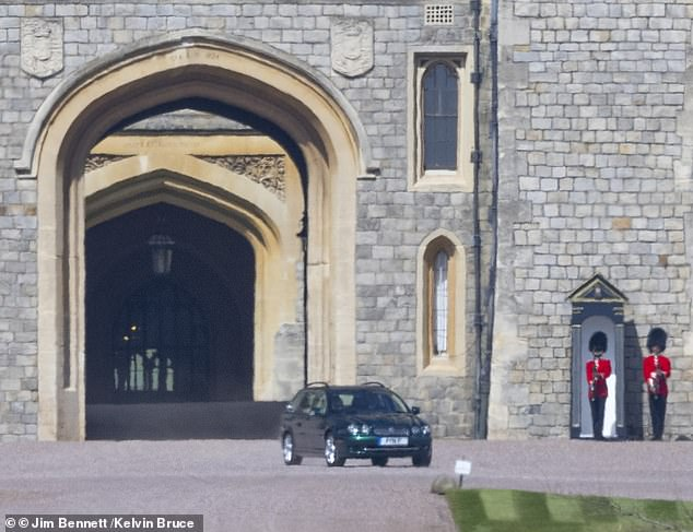 The Queen was seen for the first time since Prince Philip's funeral driving a green Jaguar