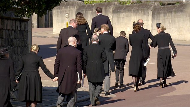 Making peace? Prince William and Prince Harry still in conversation after the service