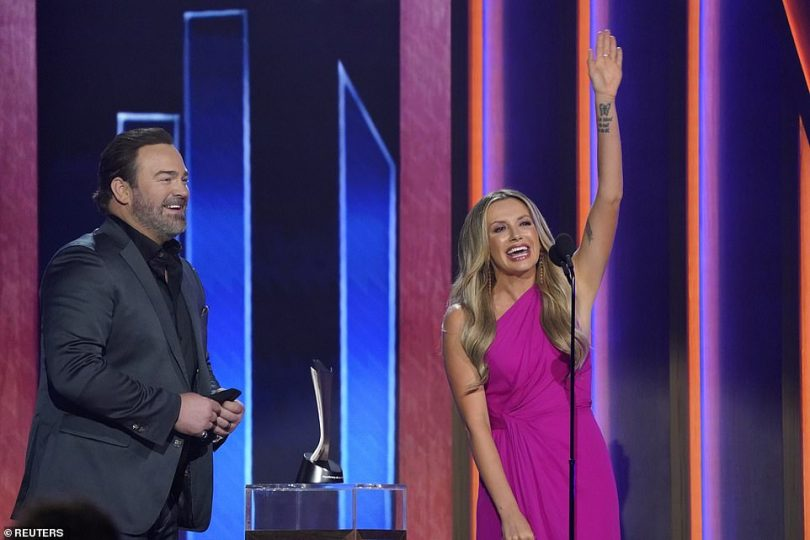 Overjoyed:Carly Pearce and Lee Brice were the winners for I Hope You're Happy Now. They previously won the award for Event of the Year for the same track