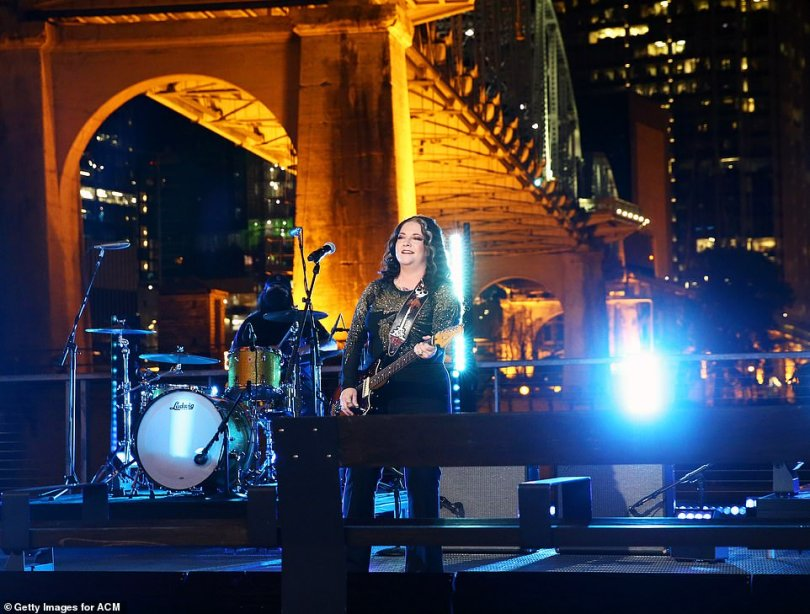 Outdoors:After the break, Ashley McBride launched into a rocking performance of her single Martha Divine